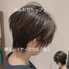 ショートヘア 束感 ショート ウルフカット ヘアスタイルや髪型の写真・画像