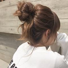 ヘアアレンジ ロング ストリート お団子アレンジ ヘアスタイルや髪型の写真・画像