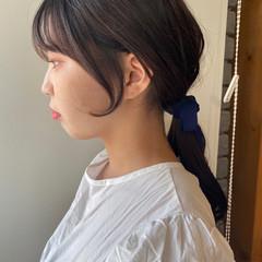 ロング 韓国ヘア ナチュラル ヘアアレンジ ヘアスタイルや髪型の写真・画像