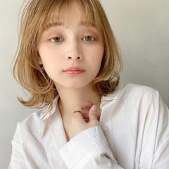 大人かわいい ガーリー ゆるふわ ミディアム ヘアスタイルや髪型の写真・画像