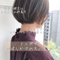 ショート ナチュラル モテ髪 大人可愛い ヘアスタイルや髪型の写真・画像