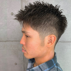 スキンフェード フェードカット ストリート 刈り上げ ヘアスタイルや髪型の写真・画像