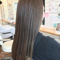水素 ナチュラル 3Dハイライト ロング ヘアスタイルや髪型の写真・画像