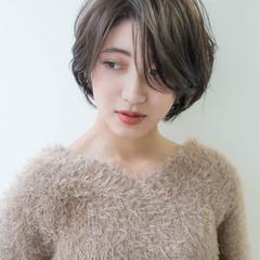 大人女子 ボブ ナチュラル ショート ヘアスタイルや髪型の写真・画像