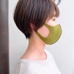 ナチュラル ショートボブ ショート 簡単スタイリング ヘアスタイルや髪型の写真・画像