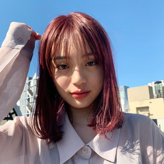 モード ブリーチカラー ピンクアッシュ ピンクベージュ ヘアスタイルや髪型の写真・画像
