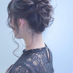 二次会 外国人風カラー コンサバ セミロング ヘアスタイルや髪型の写真・画像