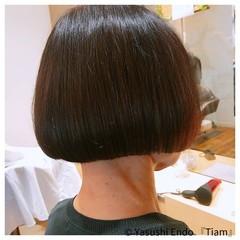 ノースタイリング ボブ 大人ヘアスタイル まとまるボブ ヘアスタイルや髪型の写真・画像