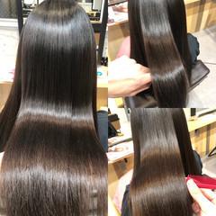 ナチュラル 髪質改善 暗髪 ストレート ヘアスタイルや髪型の写真・画像