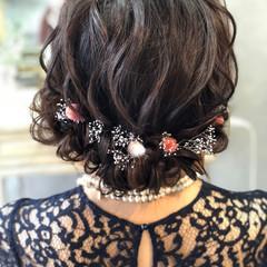 結婚式 成人式 ヘアアレンジ エレガント ヘアスタイルや髪型の写真・画像