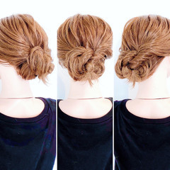くるりんぱ ロング フェミニン ヘアセット ヘアスタイルや髪型の写真・画像