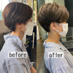 ショートヘア ハンサムショート 小顔ショート ベリーショート ヘアスタイルや髪型の写真・画像