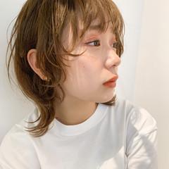 ミルクティーベージュ レイヤーボブ ストリート ウルフカット ヘアスタイルや髪型の写真・画像
