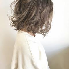ボブ ヘアカラー ミニボブ フェミニン ヘアスタイルや髪型の写真・画像