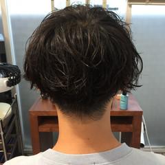 ショート メンズパーマ メンズ メンズマッシュ ヘアスタイルや髪型の写真・画像