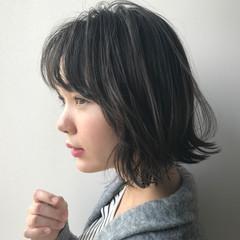 ミニボブ 透明感カラー 圧倒的透明感 ボブ ヘアスタイルや髪型の写真・画像
