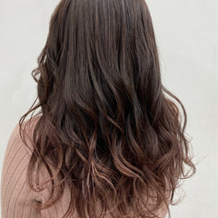 ピンクベージュ ピンクブラウン ロング 春 ヘアスタイルや髪型の写真・画像
