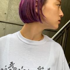 アウトドア ボブ 成人式 デート ヘアスタイルや髪型の写真・画像
