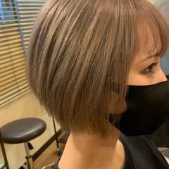 ボブ ショートヘア ミニボブ ガーリー ヘアスタイルや髪型の写真・画像