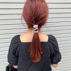 簡単ヘアアレンジ ロングヘア ガーリー セミロング ヘアスタイルや髪型の写真・画像