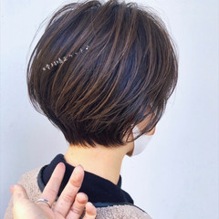 髪質改善 ナチュラル ショート ショートヘア ヘアスタイルや髪型の写真・画像