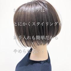 ナチュラル ショート ショートボブ ハンサムショート ヘアスタイルや髪型の写真・画像