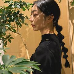 エレガント クールロング ロング ヘアアレンジ ヘアスタイルや髪型の写真・画像