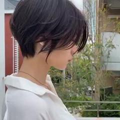 ショート ショートヘア ベージュ ショートボブ ヘアスタイルや髪型の写真・画像