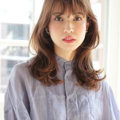 ニュアンスパーマ フェミニン ストカール 毛先パーマ ヘアスタイルや髪型の写真・画像