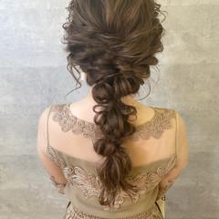 結婚式ヘアアレンジ ロング 簡単ヘアアレンジ ナチュラル ヘアスタイルや髪型の写真・画像