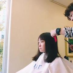 前髪あり ミディアム 大人女子 ナチュラル ヘアスタイルや髪型の写真・画像