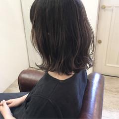 大人可愛い 秋 ロブ ハイライト ヘアスタイルや髪型の写真・画像