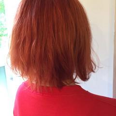インナーカラー ブリーチオンカラー ショートボブ ボブ ヘアスタイルや髪型の写真・画像