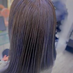 インナーカラー コントラストハイライト ナチュラル 白髪染め ヘアスタイルや髪型の写真・画像