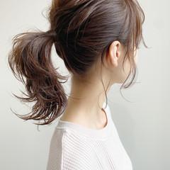 簡単ヘアアレンジ 大人かわいい アンニュイほつれヘア ミディアム ヘアスタイルや髪型の写真・画像