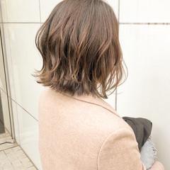 切りっぱなし デート ボブ アンニュイほつれヘア ヘアスタイルや髪型の写真・画像