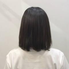 就活 ボブ 透け感ヘア 透明感カラー ヘアスタイルや髪型の写真・画像