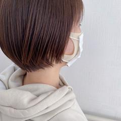 ショートヘア ナチュラル ミニボブ 最新トリートメント ヘアスタイルや髪型の写真・画像