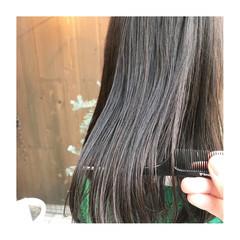 ツヤ髪 セミロング ナチュラル 大人ヘアスタイル ヘアスタイルや髪型の写真・画像