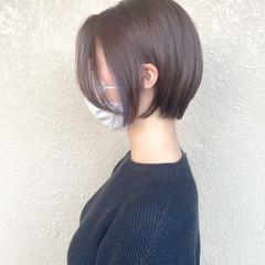 ショートボブ ナチュラル ミニボブ ショート ヘアスタイルや髪型の写真・画像