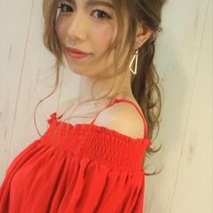 デート 簡単ヘアアレンジ 涼しげ ヘアアレンジ ヘアスタイルや髪型の写真・画像