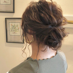 シニヨン ヘアアレンジ 外国人風 大人かわいい ヘアスタイルや髪型の写真・画像