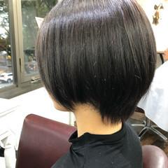 大人かわいい ナチュラル 透明感カラー ショート ヘアスタイルや髪型の写真・画像
