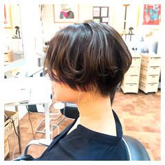 ボブ 毛先パーマ パーマ ショートヘア ヘアスタイルや髪型の写真・画像