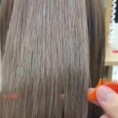 ナチュラル 縮毛矯正 アンニュイほつれヘア ミディアム ヘアスタイルや髪型の写真・画像