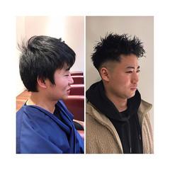 ストリート メンズカット スキンフェード メンズショート ヘアスタイルや髪型の写真・画像