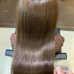 ツヤ髪 最新トリートメント ナチュラル ツヤツヤ ヘアスタイルや髪型の写真・画像