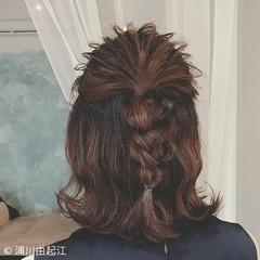 大人かわいい デート ヘアアレンジ ミディアム ヘアスタイルや髪型の写真・画像