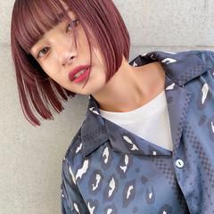 ミニボブ ナチュラル ベリーショート 切りっぱなしボブ ヘアスタイルや髪型の写真・画像