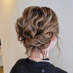 エレガント ボブ 結婚式 ボブアレンジ ヘアスタイルや髪型の写真・画像
